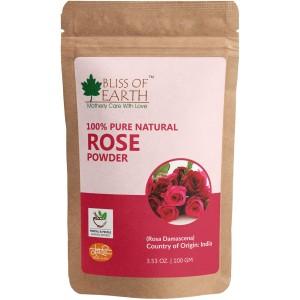 Buy Bliss Of Earth Rose Petals Powder - Nykaa