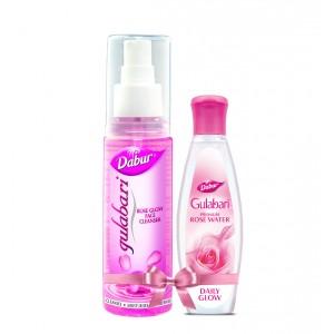 Buy Dabur Gulabari Rose Glow Face Cleanser + Free Gulabari Premium Rose Water - Nykaa