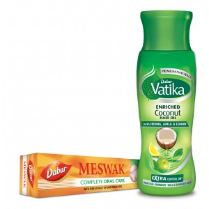 Buy Dabur Vatika Enriched Coconut Hair Oil + Free Meswak Toothpaste - Nykaa