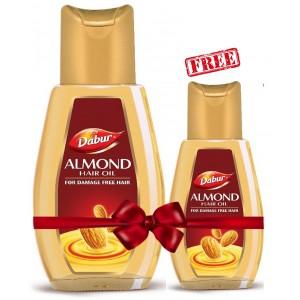 Buy Dabur Almond Hair Oil + Free With Almond Hair Oil - Nykaa