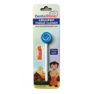 Buy DentoShine Chhota Bheem Lollipop Tongue Cleaner For Kids - Blue And White - Nykaa