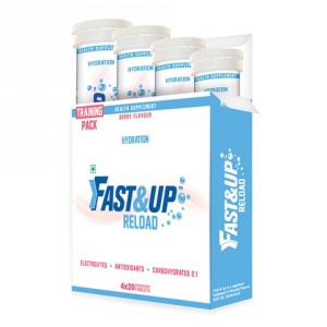 Buy Fast&Up Reload Hydration Training Pack - Berry (Tube Of 20x4) - Nykaa