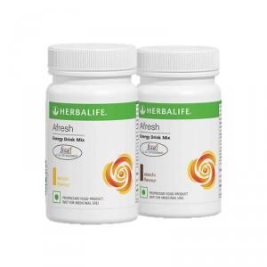 Buy Herbalife Afresh Energy Drink Mix Lemon & Elachi - Pack of 2 - Nykaa