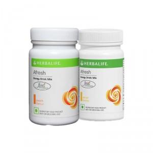 Buy Herbalife Afresh Energy Drink Mix Lemon & Peach - Pack of 2 - Nykaa