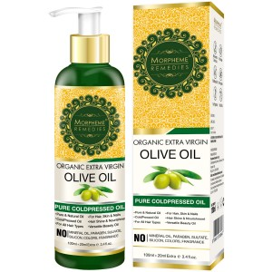 Buy Morpheme Remedies Pure Coldpressed Organic Extra Virgin Olive Oil - Nykaa