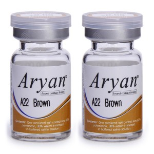 Buy Purecon Aryan 2-Tone A22 Brown Yearly Contact Lens - Pack Of 2 - Nykaa