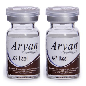 Buy Purecon Aryan 2-Tone A27 Hazel Yearly Contact Lens - Pack Of 2 - Nykaa