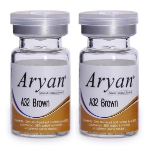 Buy Purecon Aryan A32 Brown Yearly Contact Lens - Pack Of 2 - Nykaa