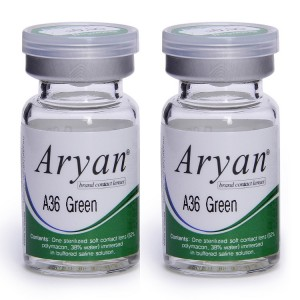 Buy Purecon Aryan A36 Green Yearly Contact Lens - Pack Of 2 - Nykaa