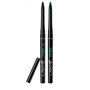 Buy Lakme Eyeconic Kajal - Black + Royal Blue - Nykaa