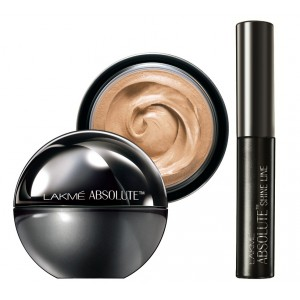 Buy Lakme Absolute Mattreal Skin Natural SPF 8 Mousse - Golden Medium + Lakme Absolute Shine Liquid Eye Liner - Black - Nykaa