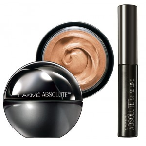 Buy Lakme Absolute Mattreal Skin Natural Mousse 16hr - Almond Honey + Lakme Absolute Shine Liquid Eye Liner - Black - Nykaa