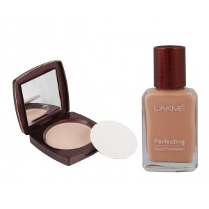 Buy Lakme Radiance Complexion Compact - Marble + Lakme Perfecting Liquid Foundation - Pearl - Nykaa