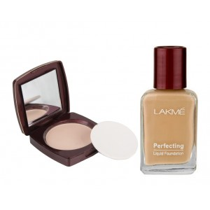 Buy Herbal Lakme Radiance Complexion Compact - Shell + Lakme Perfecting Liquid Foundation - Coral - Nykaa