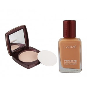 Buy Lakme Radiance Complexion Compact - Shell + Lakme Perfecting Liquid Foundation - Shell - Nykaa