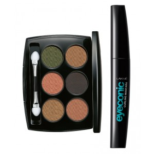 Buy Lakme Absolute Illuminating Eye Shadow - Palette Gold + Lakme Eyeconic Curling Mascara - Black - Nykaa