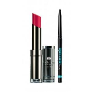 Buy Lakme Absolute Sculpt Matte Lipstick - Le Fuscia + Lakme Eyeconic Kajal - Black - Nykaa