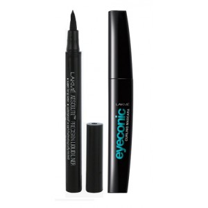 Buy Lakme Absolute Precision Liquid Liner + Lakme Eyeconic Curling Mascara - Black - Nykaa