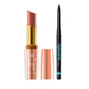Buy Lakme 9 to 5 Crease-less Creme Lipstick - CP5 Salmon State + Lakme Eyeconic Kajal - Black - Nykaa