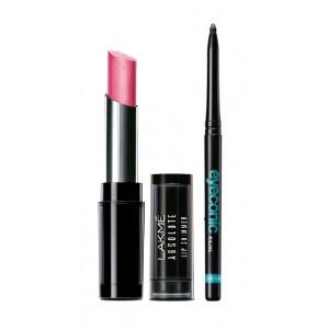 Buy Lakme Absolute Illuminating Lip Shimmer - Pink Flash + Lakme Eyeconic Kajal - Black - Nykaa