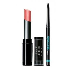Buy Herbal Lakme Absolute Illuminating Lip Shimmer - Tropical Shine + Lakme Eyeconic Kajal - Black - Nykaa