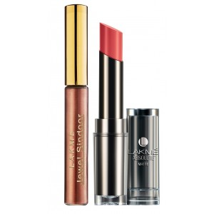 Buy Lakme Jewel Sindoor - Maroon + Lakme Absolute Sculpt Matte Lipstick - Peach Out - Nykaa