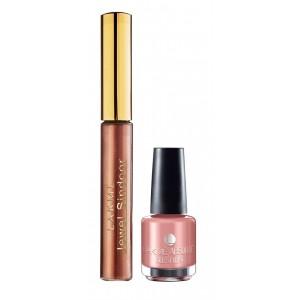Buy Lakme Jewel Sindoor - Maroon + Lakme Absolute Gel Stylist Nail Polish - Gold Dust - Nykaa