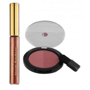 Buy Herbal Lakme Jewel Sindoor - Maroon + Lakme Absolute Face Stylist Blush Duos - Rose Blush - Nykaa