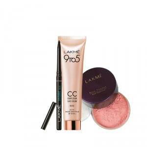Buy Lakme Complexion Care Face Cream - Beige + Pink Rose Powder - Soft + Free Eyeconic Kajal - Full Size Tester - Nykaa