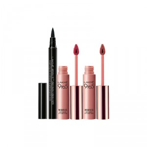 Buy Lakme 9 to 5 Weightless Matte Mousse Lip & Cheek Color - Plum Feather + Blush Velvet + Free Absolute Precision Liquid Liner - Full Size Tester - Nykaa