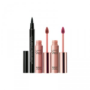 Buy Lakme 9 to 5 Weightless Matte Mousse Lip & Cheek Color - Blush Velvet + Fuchsia Suede + Free Absolute Precision Liquid Liner - Full Size Tester - Nykaa