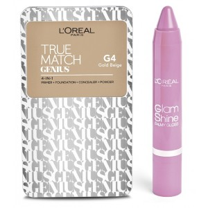 Buy Herbal L'Oreal Paris True Match Genius - Gold Beige G4 + Free Glam Shine Balmy Gloss - Lychee Lust - Nykaa