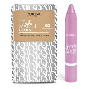 Buy L'Oreal Paris True Match Genius - Gold Vanilla G3 + Free Glam Shine Balmy Gloss - Lychee Lust - Nykaa