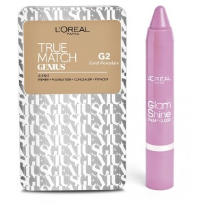 Buy L'Oreal Paris True Match Genius - Gold Porcelain G2 + Free Glam Shine Balmy Gloss - Lychee Lust - Nykaa
