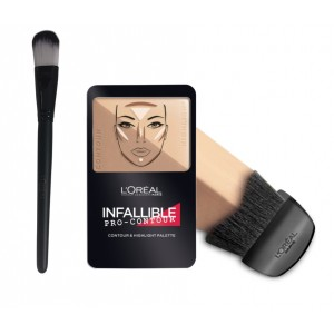 Buy L'Oreal Paris Infallible Pro Contour Palette - 814 Medium + Free Makeup Brush - Nykaa