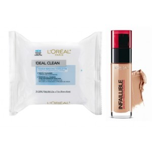 Buy L'Oreal Paris Infallible 24h Foundation - 250 Radiant Sand + Free Ideal Skin Makeup Removing Towelettes - Nykaa