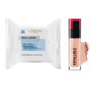 Buy L'Oreal Paris Infallible 24h Foundation - 235 Honey + Free Ideal Skin Makeup Removing Towelettes - Nykaa