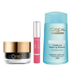 Buy L'Oreal Paris Super Liner Gel Intenza + Lip Crayon 911 Lychee Lust + Free Dermo Expertise Lip & Eye Make-Up Remover - Nykaa