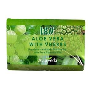 Buy Lass Naturals Aloe Vera With 9 Herbs Soap - Nykaa