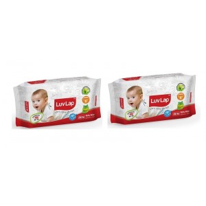 Buy LuvLap Paraben Free Baby Wet Wipes (Pack OF 2) - Nykaa