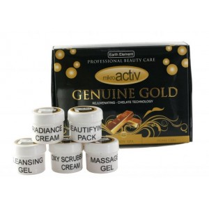 Buy Herbal Mikroactiv Genuine Gold Facial Kit (Set of 5) (Buy 1 Get 1) - Nykaa