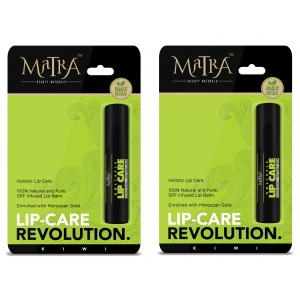 Buy Matra 100% Natural Lip Balm Kiwi, SPF & Moroccan Gold Infused - Pack of 2 - Nykaa