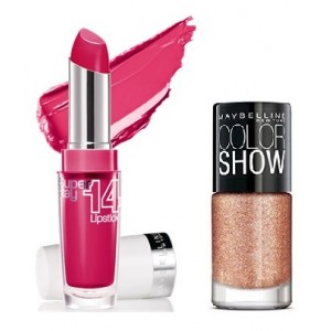 Buy Maybelline New York Superstay 14hr Lipstick - Eternal Rose 020 + Free Gold Digger Collection - Nykaa