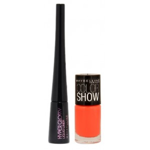 Buy Maybelline New York Hyper Glossy Liquid Eyeliner - Black + Free Color Show Nail Lacquer - Nykaa