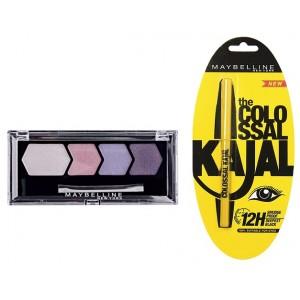 Buy Maybelline Diamond Glow Eye Shadow - Lilac Mauve + Free Colossal Kajal - Nykaa