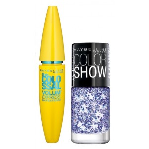 Buy Maybelline The Colossal Volum Express Mascara - Waterproof + Free Graffiti Nail Polish - Star Struck - Nykaa