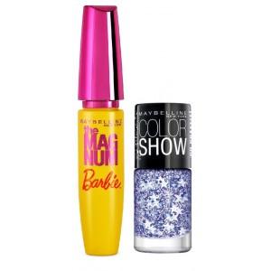 Buy Maybelline New York Magnum Barbie Mascara + Free Graffiti Nail Polish - Star Struck - Nykaa