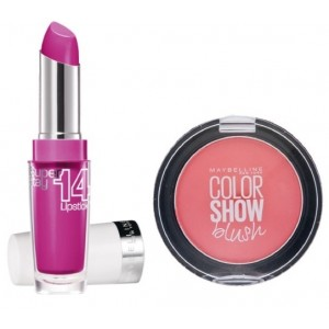 Buy Maybelline New York Superstay 14H Megawatt - 120 Neon Pink + Free Color Show Blush - Fresh Coral - Nykaa