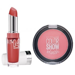 Buy Maybelline New York Superstay 14H Megawatt - 455 Burst Of Coral + Free Color Show Blush - Peachy Sweetie - Nykaa