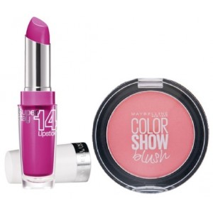 Buy Herbal Maybelline New York Superstay 14H Megawatt - 120 Neon Pink + Free Color Show Blush - Peachy Sweetie - Nykaa